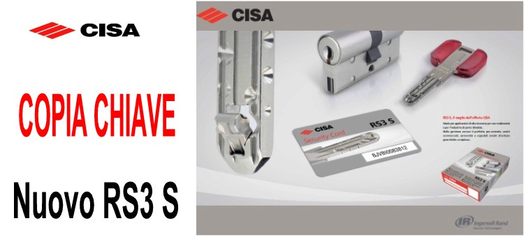 Copia chiave CISA RS3 S